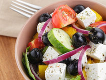 Light greek salad Stock Images