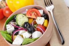 Light greek salad Stock Photo