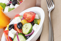 Light greek salad Stock Image
