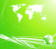 Light Green Abstract Background With A Globe Stock Photography