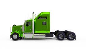 Light green american truck Stock Images