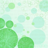 Light green background. The geometrical spring background with circles Stock Images