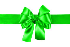 Light green bow photo made from silk Stock Images