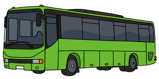 Light green bus Stock Images