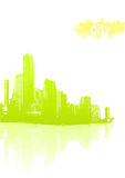 Light green city Royalty Free Stock Photo