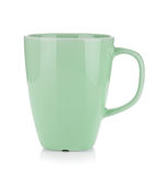 Light green coffee cup Stock Images