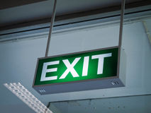 Light green Exit sign Stock Images