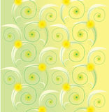 Light green floral background. With yellow daisies Royalty Free Stock Photos