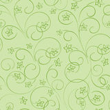 Light green vector floral background - seamless pattern with flo. Light green floral background - vector seamless pattern with flowers royalty free illustration