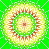 Light green flower mandala Stock Photos