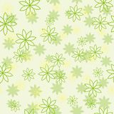 Light green flower pattern. Seamless flower pattern in green colors Stock Images