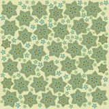 Light green flowers. Light green pattern in the japan stile Royalty Free Stock Photography