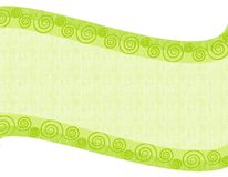 Light Green Folksy Swoosh Background royalty free illustration