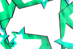 Light green geometric shapes, abstract background Royalty Free Stock Photo