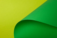 Light green and green cardboard. Green designer paper having the texture Royalty Free Stock Photography