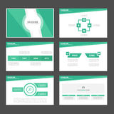 Light green Infographic elements icon presentation template flat design set for advertising marketing brochure flyer Stock Photo