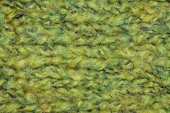 Light green knitted wool detail royalty free stock photos