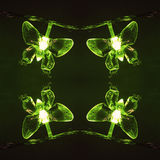 Light green lamps butterfly Royalty Free Stock Photos