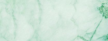 Light green Marble surface background. Copy space. Long banner for blogs and web sites stock image