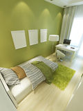 Light green nursery in Contemporary style. Royalty Free Stock Image
