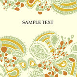 Light green and orange pattern. Vector color light green and orange pattern with text frame Stock Images