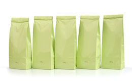 Light green packages Stock Photography