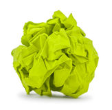 Light green paper folded balloon Royalty Free Stock Image