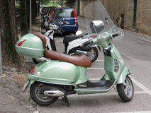 Light green Piaggio Vespa Royalty Free Stock Photos