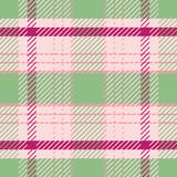 Light green and pink tartan plaid pattern in fresh summer tones.. Seamless sophisticated vector design. Perfect for stock illustration