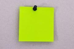Light green reminder list Royalty Free Stock Image