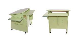 Light green school desk Royalty Free Stock Images