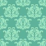 Light green seamless damask pattern Royalty Free Stock Photo