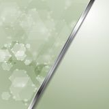 Light green shiny tech vector Royalty Free Stock Photos