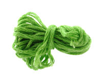 Light green six strand floss Royalty Free Stock Images