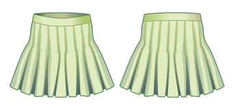 Light green skirt Stock Photos