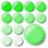 Light Green Star Icons Royalty Free Stock Images