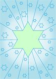 Light green star on a pale blue background Stock Photo