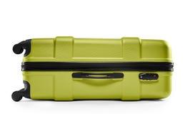 Light green suitcase. lying horizontally Stock Photo