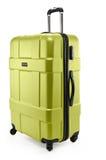 Light green suitcase plastic half-turned Royalty Free Stock Photos