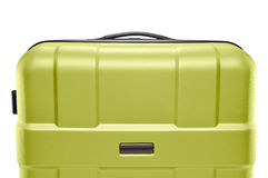 Light green suitcase. upper part of the handle Royalty Free Stock Photos
