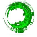 Light green tech circle. Raster Royalty Free Stock Images