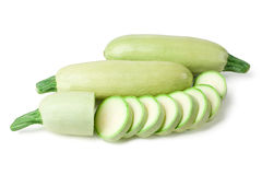 Light green turkish zucchini's Royalty Free Stock Images