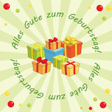 Light green vector background - Alles gute zum Geburtstag Royalty Free Stock Image