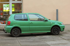 Light Green Volkswagen Polo Stock Photo