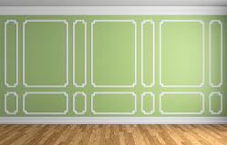 Light green wall in classic style room Stock Photography