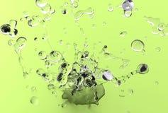 Light Green Water Splash Royalty Free Stock Images