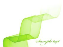 Light green wave Stock Photo