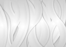 Light grey abstract wavy background Royalty Free Stock Images