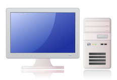 Light Grey Desktop Computer Royalty Free Stock Images