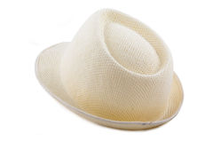 Light grey fedora hat. On a white background Stock Image